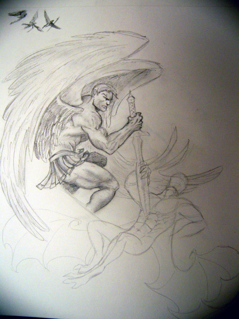 Angel Tatto WIP 3 by
