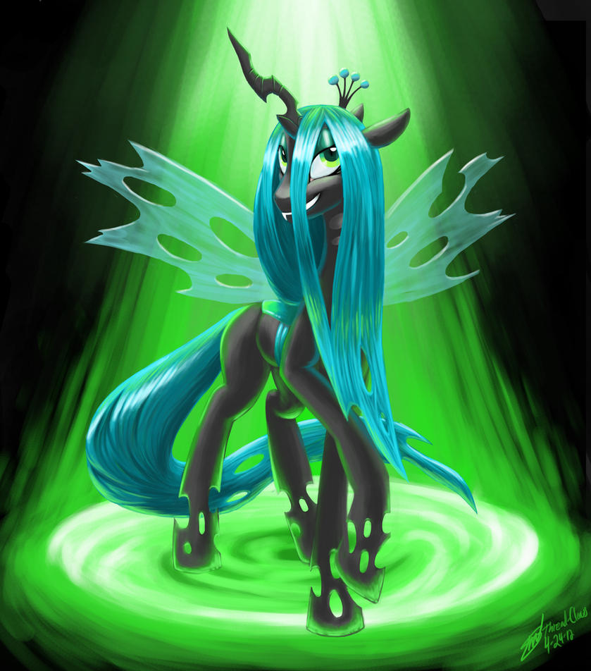 Requesting Queen Chrysalis desktop background Queen_chrysalis_by_threadandclaws-d4xj6on