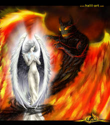 Angel and Devil by halil-art