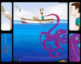 Jester Octopus by halil-art