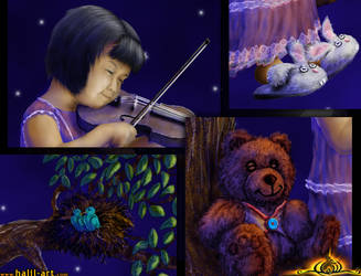 Little Violinist _detail_ by halil-art