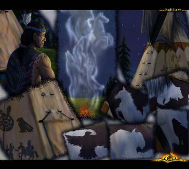 Native American spirit _detail by halil-art