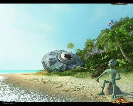 Lost Alien by halil-art