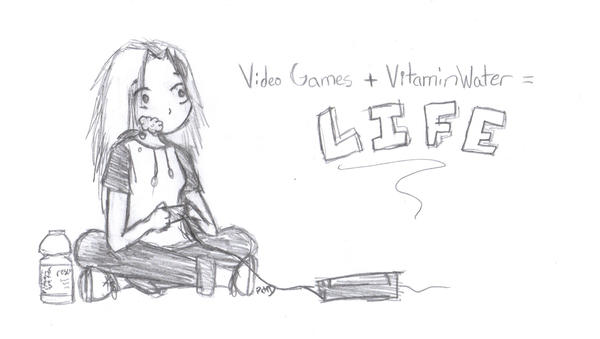 Video Games + VitaminWater by dattabayo