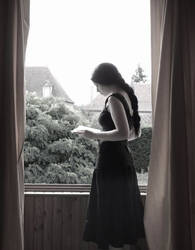 At the window...