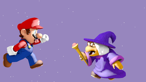 Mario vs. Kammy Koopa by Vinfreild