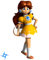 Vinfreild N64 Princess Daisy - Mario Tennis 1 by Vinfreild