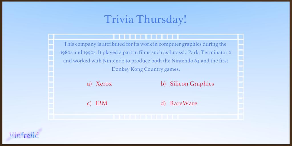 Trivia Thursday (10/5/2017)