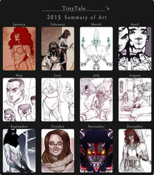 2015 Summary of Art by TinyTale