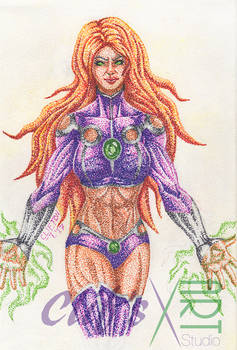 Starfire in Pointillism