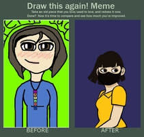Draw this again! Meme Self Portrait by tappertip