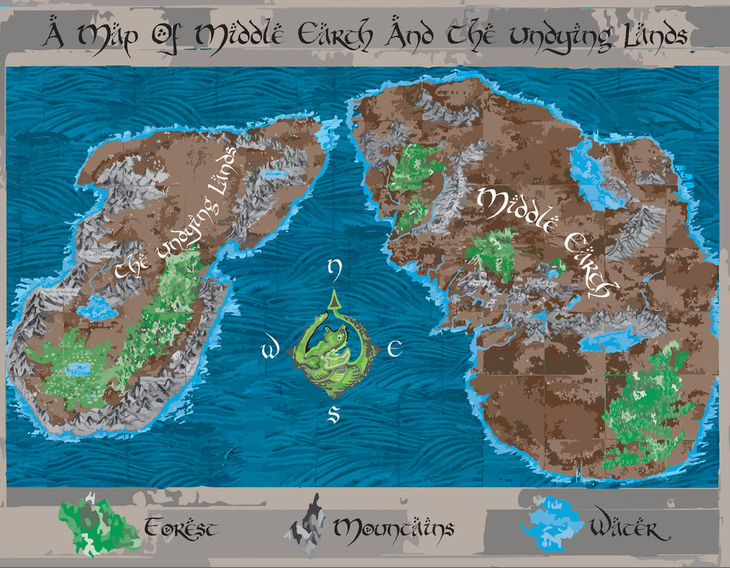 Map Of Middle Earth And The Undying