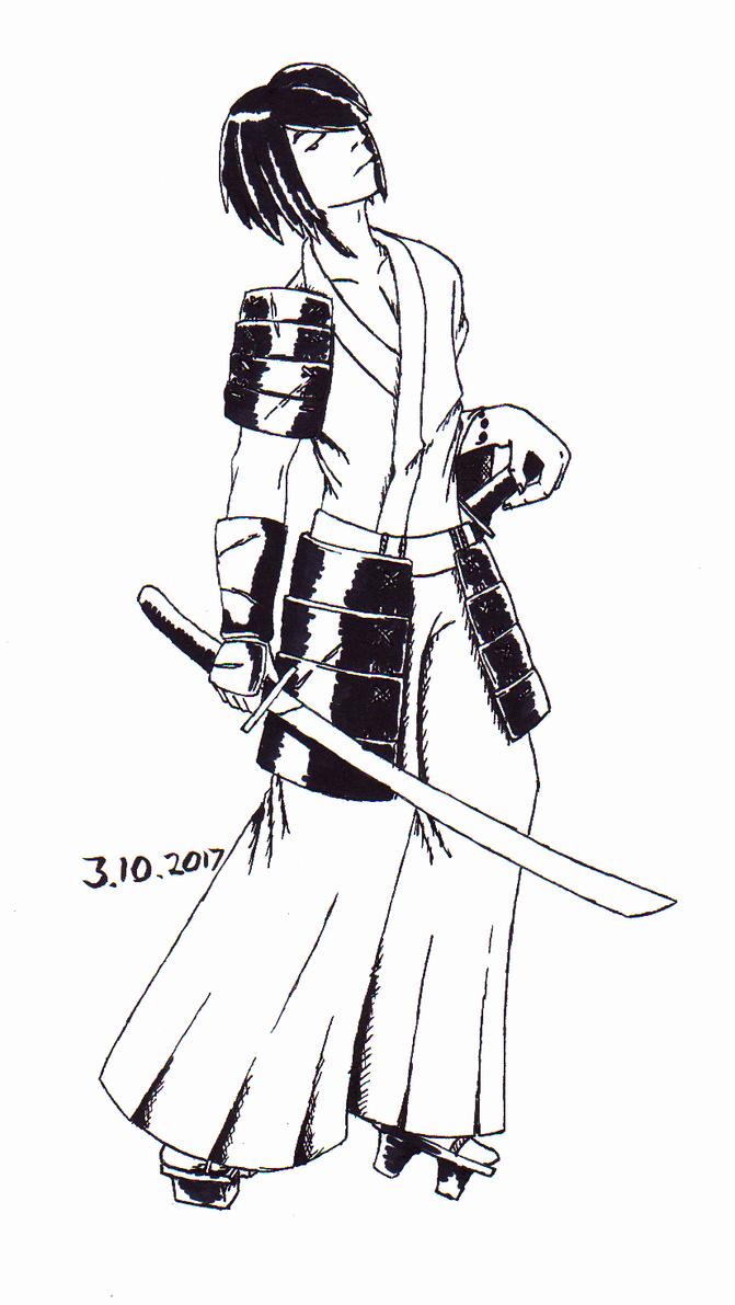 Samurai-inktober by jaxicle