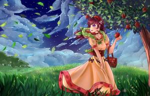 Apple Picking (Speedpaint) by MizuMisuto