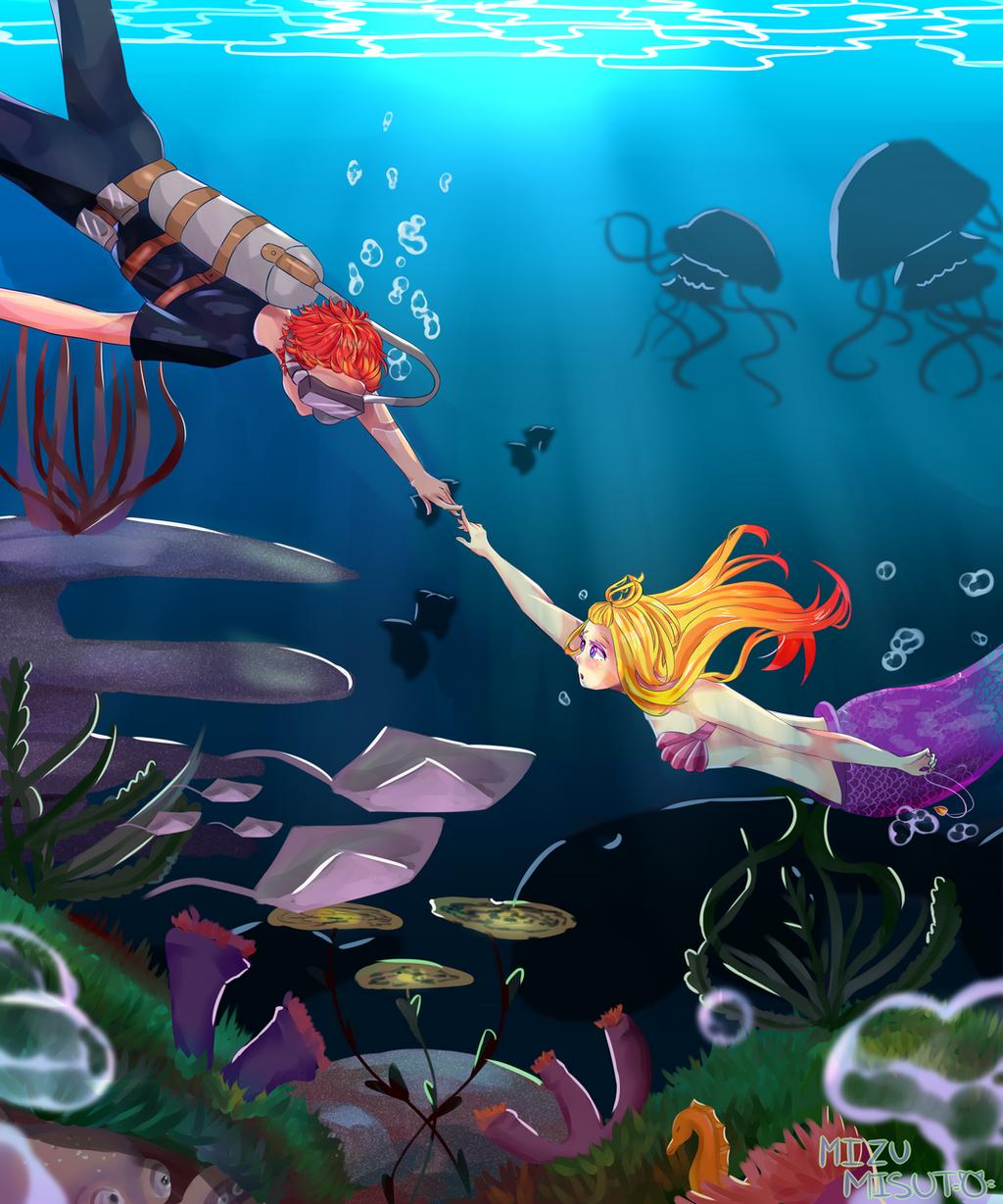 [CE] Under the Deep Blue Sea w/ Speedpaint by MizuMisuto