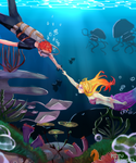 [CE] Under the Deep Blue Sea w/ Speedpaint