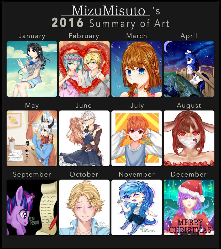 2016 Art Summary by MizuMisuto