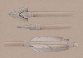 Late Stone Age Arrow by juniorWoodchuck