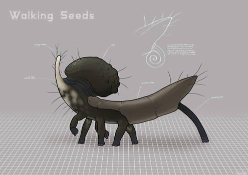 Walking seeds/carrier modules