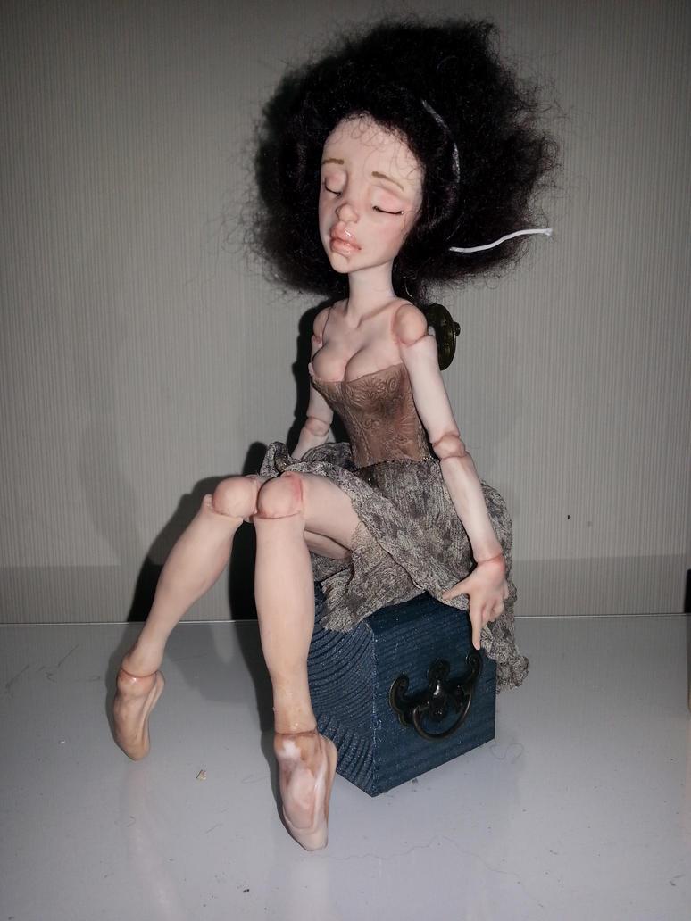 OOAK doll Ballerina in porgress by lonewings