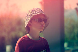 sweet child and hat by cagacaga