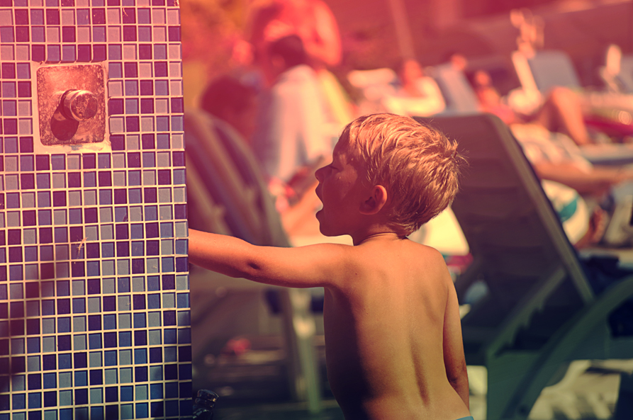 pool and boy by cagacaga
