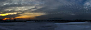 sunset panorama by the3godfathersteve