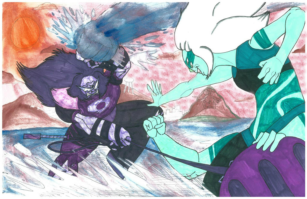 Clash of the Giant Women: Sugilite VS  Malachite by Gojira007 on