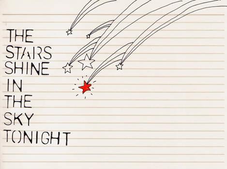 Falling december stars.