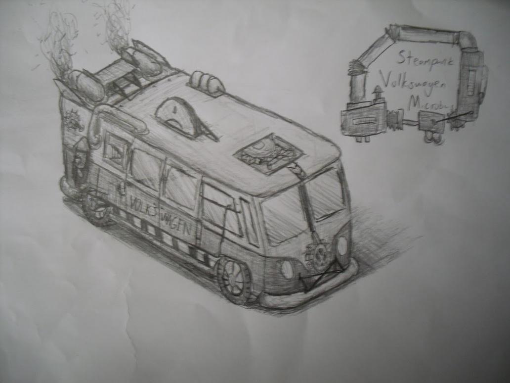 Steampunk VW Type 2 by