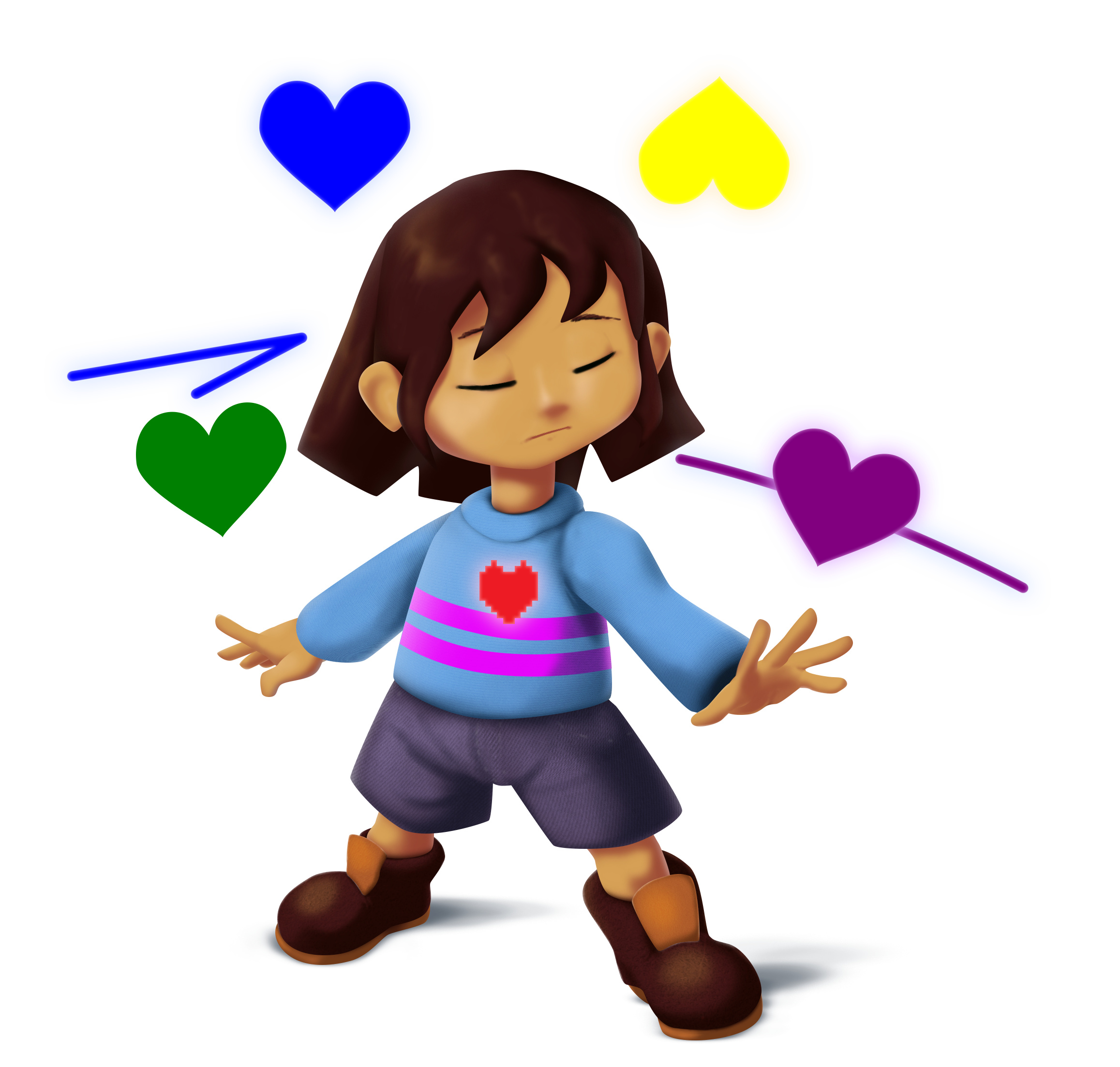 Dimensional Clash: ☆Somniverse Rising☆ [CHAR] Frisk_ssb_transparency_by_locomotive111-d9nnigc