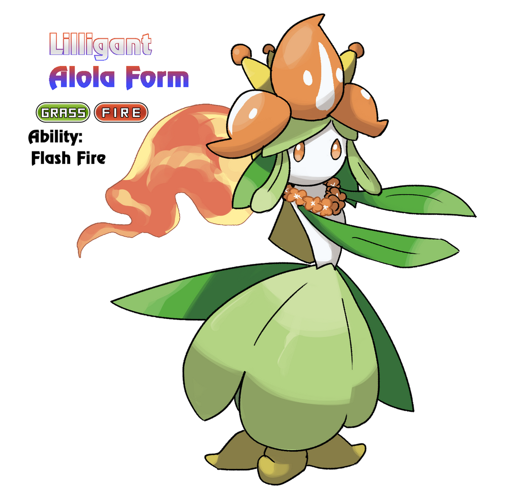 Lilligant - Alola Form by locomotive111 on DeviantArt