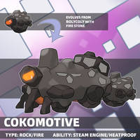 (Rolycoly Evo) Cokomotive by locomotive111