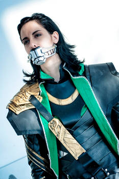 Loki Cosplay : Bound, gagged, not dead yet
