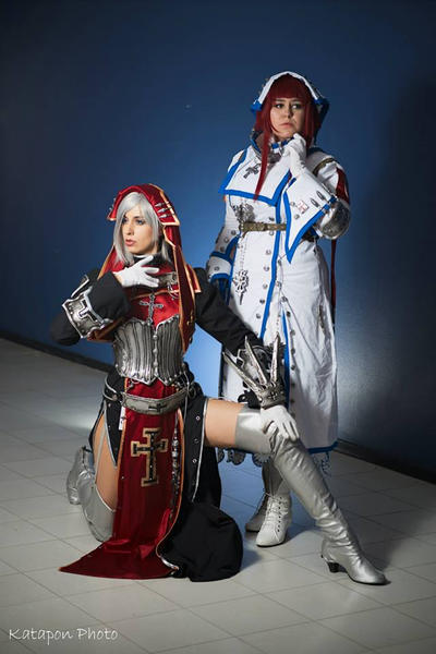 Trinity Blood Cosplay: Holy sisters by Abessinier