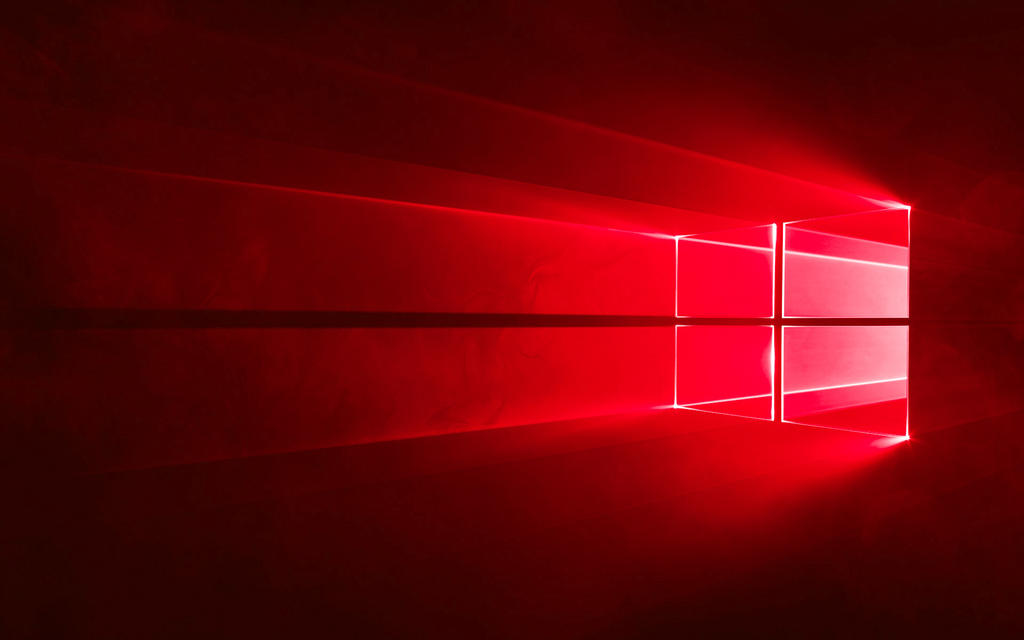 WINDOWS 10 HERO WALLPAPER IN RED By GTAGAME
