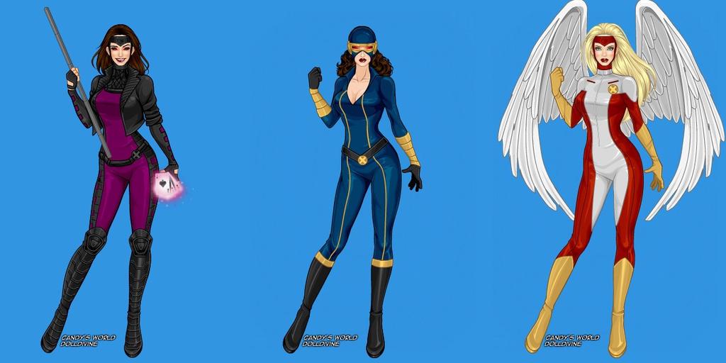 Gender Swap Gambit Cyclops Angel by marvelboy1974