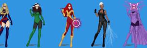 Ms. Marvel and 80's era X-men! by marvelboy1974