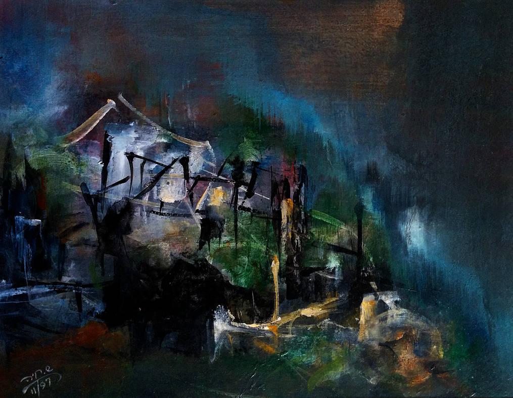 Stormy Night -Acrylic  110