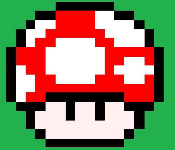 Pixel Art Mario Mushroom By Hack Girl On Deviantart