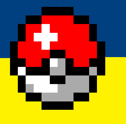 Pixel art Pokeball by Hack-Girl