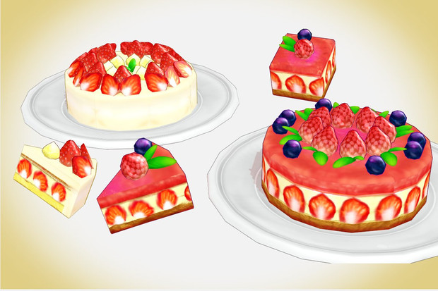 Strawberry Cake Images Download : Strawberry cake set MMD Download by Hack-Girl on DeviantArt