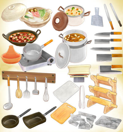 cookware set mmd pack download by hack girl on deviantart. Black Bedroom Furniture Sets. Home Design Ideas