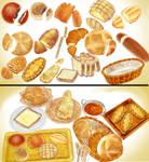 bakery bread set pack download MMD