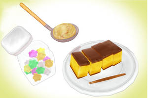 Random confectionery cake set MMD Download by Hack-Girl
