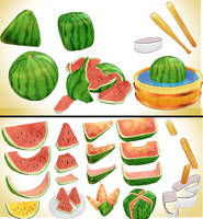 water melon fruit pack MMD download by Hack-Girl