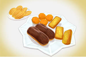 French pastries- chocolate eclairs MMD Download by Hack-Girl