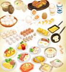 Breakfast Egg Delux Download pack Set MMD