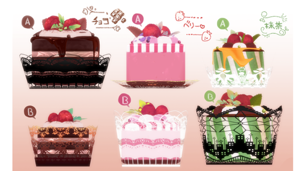 MMD Raspberry round cake set Download by Hack-Girl