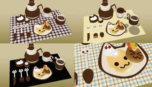 MMD Nyanko Breakfast / Teas set Download